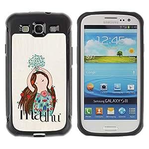 "Pulsar iFace Series Tpu silicona Carcasa Funda Case para Samsung Galaxy S3 III I9300 , Trazado Flores Floral Mano"""