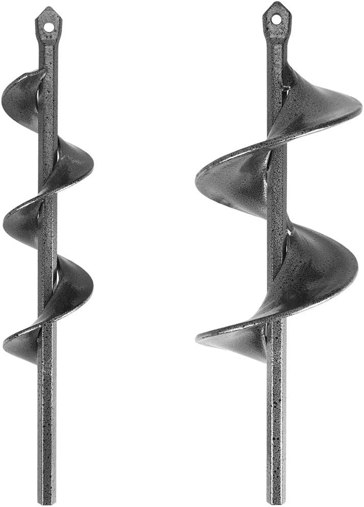 Jucoci Auger Drill Bit for Planting Garden Auger Bulb Planter Garden Drill Bit Post Hole Digger 1.6 x 9 /& 3 x 9 2-in-1 Set Rapid Planter Suitable for 3//8 Hex Drive Drill Chucked Drill