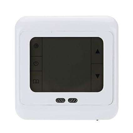 Pantalla Táctil de Termostato Programable Calefacción Backlet - Verde