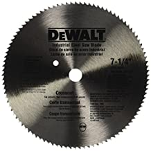 DEWALT DW3324 7-1/4-Inch 100 Tooth ATB Crosscut Saw Blade with 5/8-Inch and Diamond Knockout Arbor