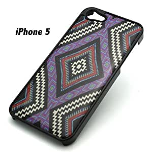 BLACK Snap On Case IPHONE 5 5S Plastic - THE NATIVE MAYAN AZTEC tribal navajo am...