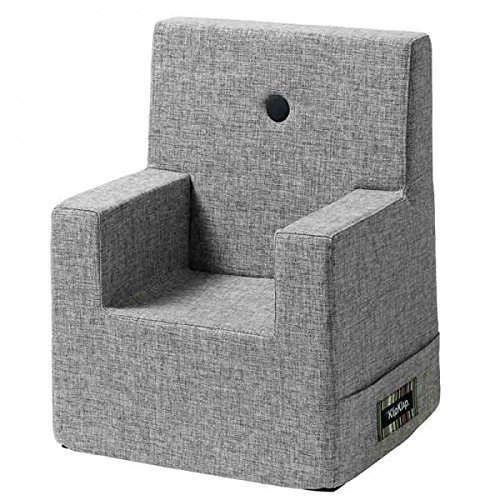 by KlipKlap Kids Chair XL - Multigrey with Grey Button