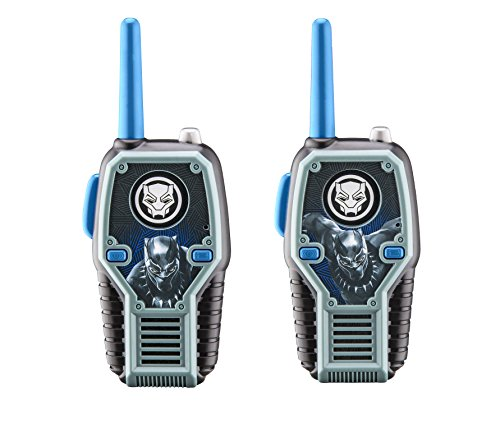 Black Panther FRS Walkie Talkies with Lights and Sounds Kid Friendly Easy to Use -  KIDdesigns, 43395-11685