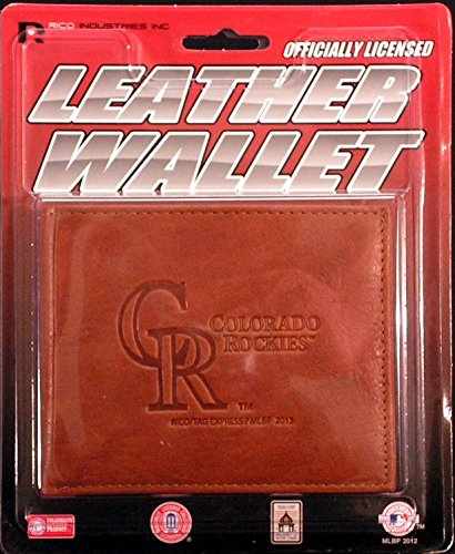 Colorado Rockies MLB Embossed Leather Billfold Wallet ()