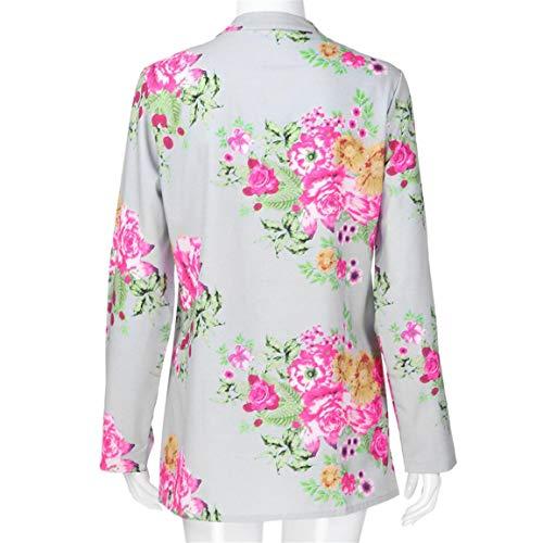 La Femmes De Chemisier Tunique Longue Chemise Fille V cou Vintage Tops Loisirs Mode Plus Tops Imprimer Cardigan Floral Tops Gris Dames Taille Bellelove Uxd7qwZU