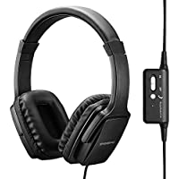 ENGREPO Active Noise Cancelling Headphones With Mic, Overhead Strong Bass Earphones, Folding and Lightweight Travel Headset With Carrying Case