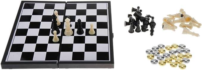 Sharplace Tablero de Damas y Ajedrez Juego de Mesa Divertido para Niños: Amazon.es: Juguetes y juegos