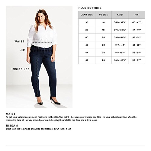 Levi's Women's Plus-Size Mid Rise Skinny Jean, Luck Out West, 18 Plus