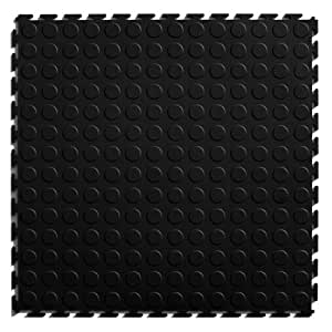 Perfection Floor Tile Studded PVC Interlocking Tiles - 8 pk