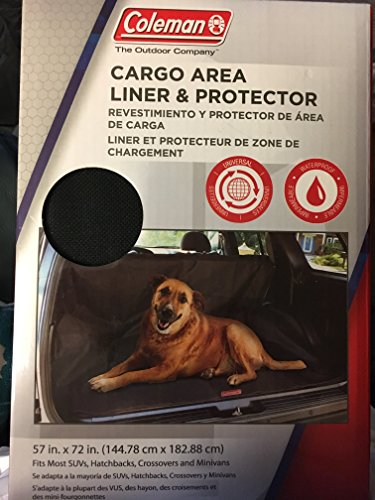 - Coleman Cargo Area Liner and Protector for SUVs, Hatchbacks, Crossovers and Minivans, Durable, Waterproof, Black, 57 in x 72 in