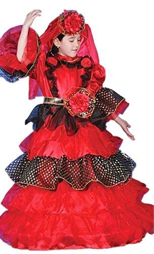 Child Spanish Dancer Deluxe Dress up Costume Set (Small) (Adult Spanish Dancer Costume)