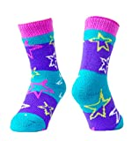 Hot Feet Girl's 2 Pairs Heavy Thermal Socks - Traps