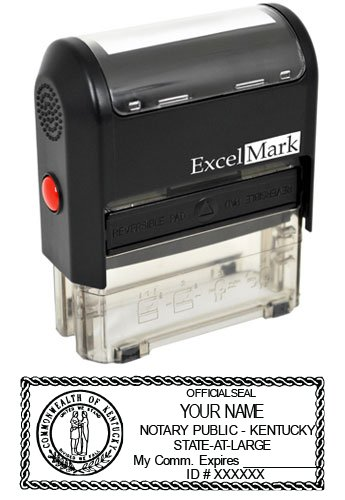 ExcelMark Self Inking Notary Stamp - Kentucky