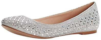 bc0fc6dee7d David s Bridal Crystal Embellished Ballet Flats Style BABA1
