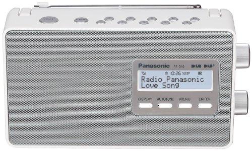 Panasonic RF-D10EG-W Digitalradio (DAB+/UKW Tuner, Netz- und Batteriebetrieb) weiß