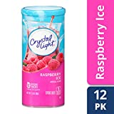 Crystal Light Drink Mix, Raspberry Ice, Pitcher Packets, 6 Count, 1.3 Oz (Pack of 12 Canisters)