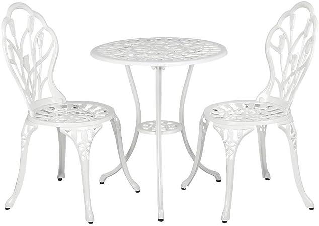Yaheetech 3tlg Bistro Set Tisch 2 Stuhle Sitzgruppe Amazon De