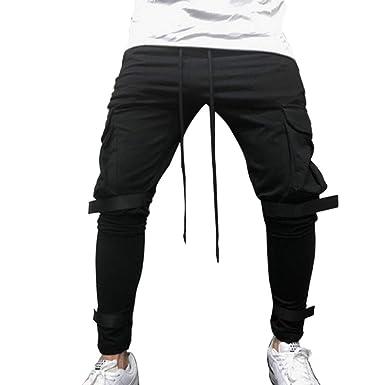 HEHEM Mens Trousers Pants Grey Pants Black Pants Formal Business Trousers Trunks Pure Color Pocket Overalls
