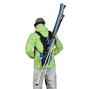 1b6aded383886 Wantalis - Skiback - Un Produit révolutionnaire pour Porter Vos Skis en  libérant Vos Mains - Bretelles adaptables et réglables