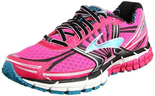 Brooks Women's Adrenaline GTS 14 Running Shoes, Color: PinkGlo/Black/CapriBreeze, Size: 5.5