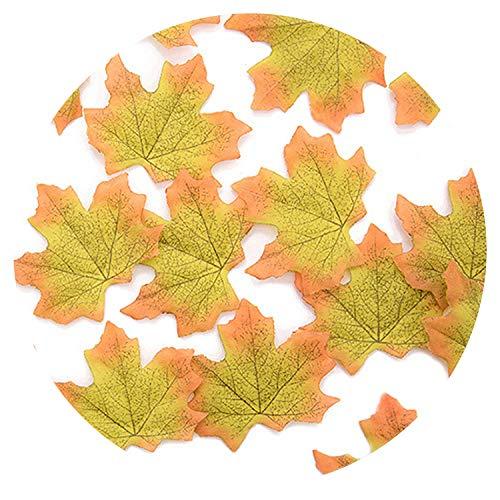 50pcs 8cm Vivid Artificial Silk Maple Leaves for Home Wedding Party Decoration ()