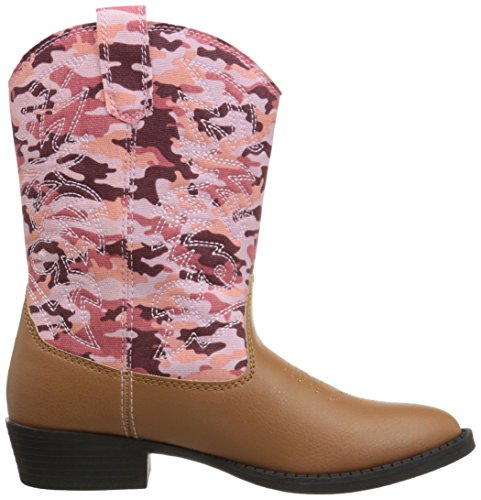 Tan Stags Kid Camouflage Cowboy Kid Pink Deer Little Big Ranch Boot 8HxdR