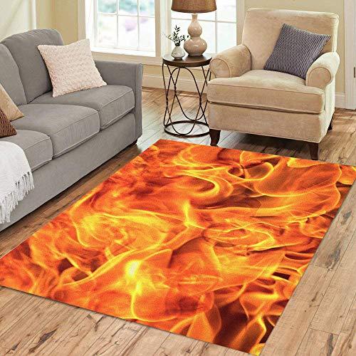 - Pinbeam Area Rug Fire Flame Fragment Blaze Burn Heat Home Decor Floor Rug 3' x 5' Carpet