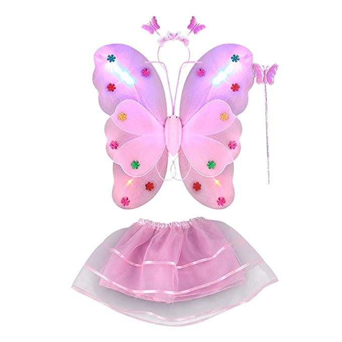 LED ala de Mariposa, Dragon868 4pcs Disfraz Luminoso de Mariposa ...