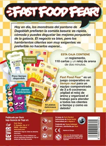 Devir Fast Food Fear, edición en español (BGFAST): Amazon.es: Juguetes y juegos