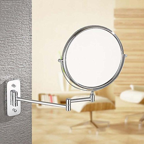 6/8-inch Bathroom Mirror Double Sided Makeup Mirror 3X, 5X,7X,10X/1X Magnification Wall Mounted Vanity Magnifying Mirror Swivel, Extendable For Bath, Spa And Hotel ( Design : 5x , Size : 6-inch ) by GAOLIQIN (Image #4)