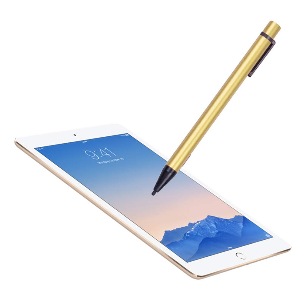 Aobiny Active Stylus Pen, Screen Touch Pen Stylus,with USB Charging Wire, for iPad 2/3/4/mini (Gold)