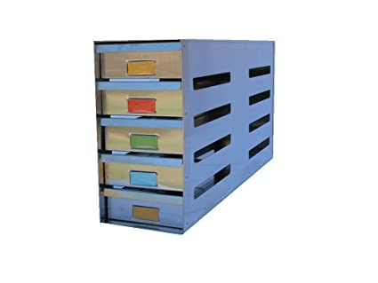 Stainless Steel Sliding Drawer Freezer Rack Holding 20   2u0026quot;  Cryostorage Boxes   Fit Most