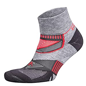 Balega Enduro V-Tech Quarter Socks For Men and Women (1-Pair), Mid Grey/Carbon, Medium