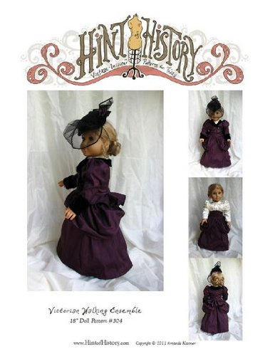 1870s Victorian Walking Ensemble for 18″ Doll Pattern