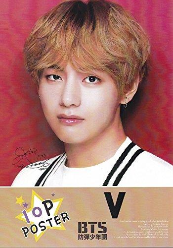 V/ブイ/キムテヒョン/BTS/防弾少年団写真付A4ポスター10枚/Ver.2韓国