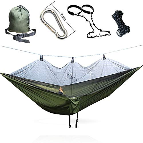 - JIA-WALK Mosquito Net Army Hammock Mosquito Net Camping Ultralight Outdoor Camping Hunting Mosquito Net,300S Army Green