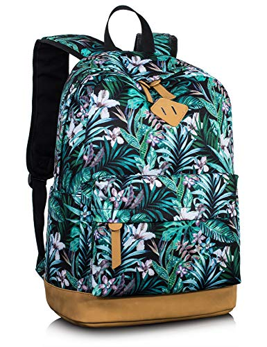 Leaper Floral Laptop Backpack Bookbag for Teens College Daypack Travel Bag