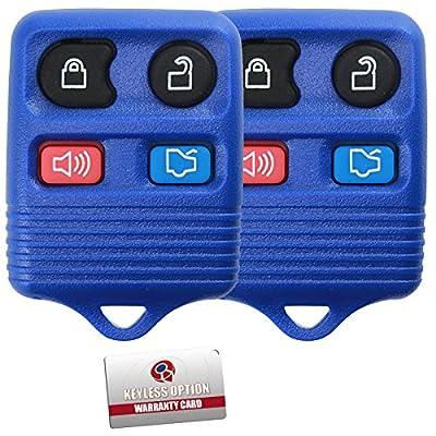 2 KeylessOption Blue Replacement 4 Button Keyless Entry Remote Control Key Fob: Automotive