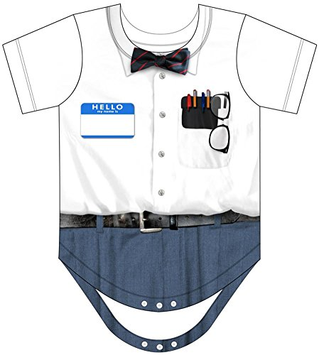 Infant Nerd Costumes Romper (Infant: Nerd Costume Romper Infant Onesie Size 6)