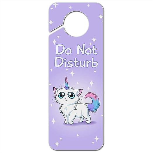 Majestic Unicorn Pink Purple Blue Plastic Door Knob Hanger Sign