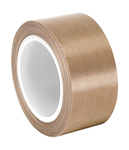 TapeCase 134-10 PTFE Tan Abrasion Resistant Fiberglass Tape Silicone Adhesive Industrial Grade - 2 Width 18YD Length (1 Roll) / TapeCase 134-10 PTFE Tan Abrasion Resistant Fiberglass Tape Silicone Adhesive Industrial Grade - 2 Widt...