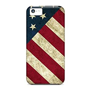 High Grade GMcases Flexible Tpu Case For Iphone 5c - American Flag