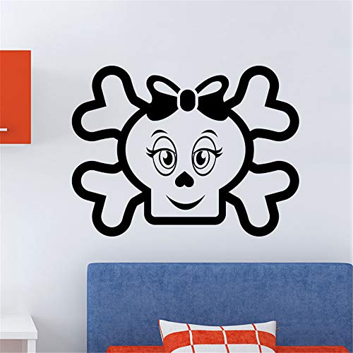 Family-decal Wall Sticker Lettering Quotes and Saying Figure Skull and Bone for Halloween Nursery Kids Room Teen Room]()