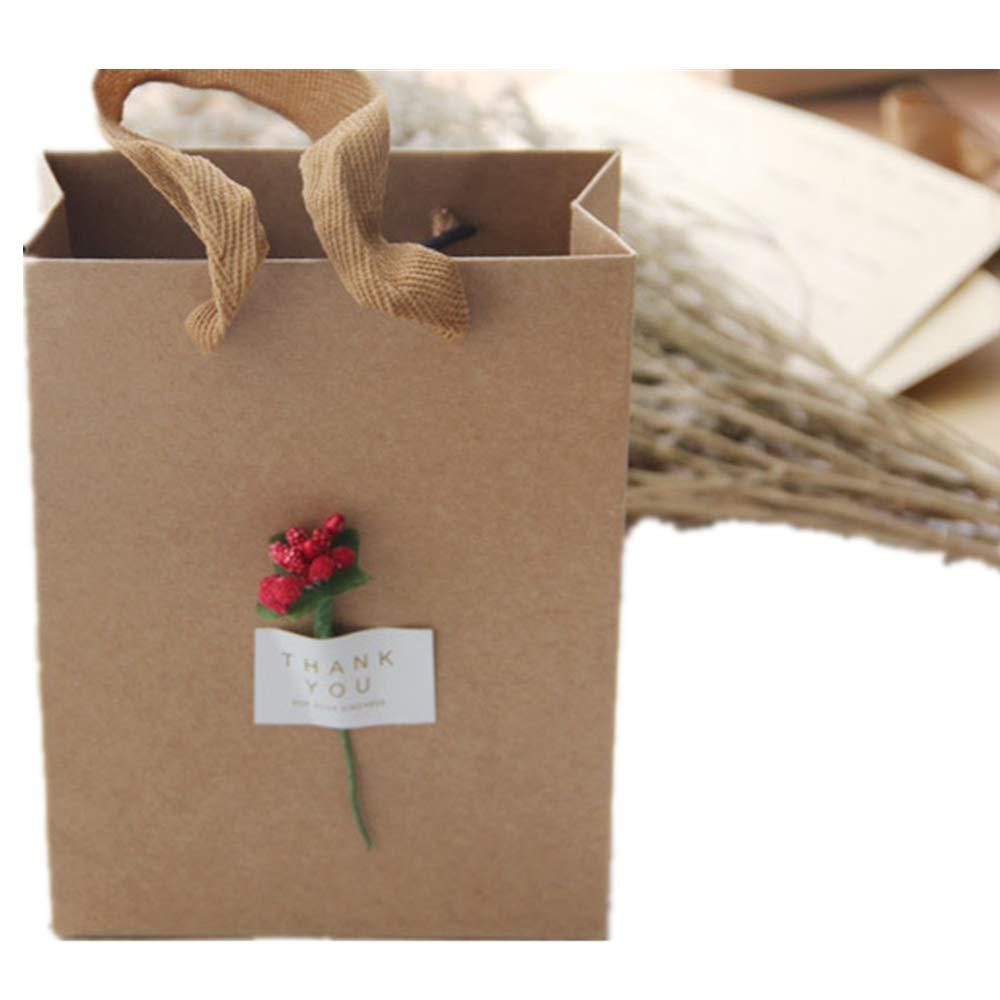 Amazon.com: Caja de caramelos, bolsa de papel kraft, caja de ...