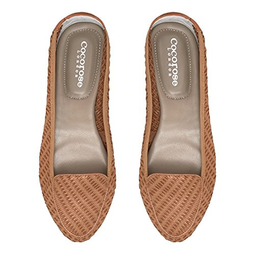 Plegables Ballerinas Cocorose Mujer Zapatos Cuero Clapham Beige F1z5xUz