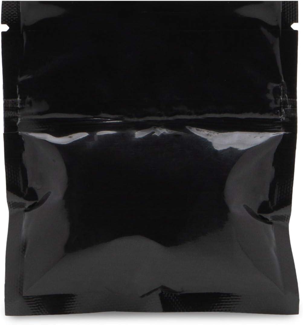 "100 Pcs 3.5/"" x 4.5/"" 3 Seal Flat Ziplock Pouch Mylar Smell Proof Bags"