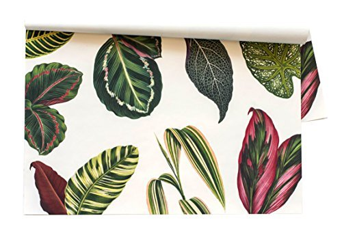 Kitchen Papers Tropical Leaves Disposable Placemats - 30 Sheets/Pack Made in USA
