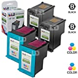 LD © Remanufactured Replacement Ink Cartridges for Hewlett Packard (HP) C8765WN (HP 94) Black and C8766WN (HP 95) Color (2 Black and 2 Color)