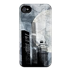 Durable Defender Case For Iphone 4/4s Tpu Cover(big City)