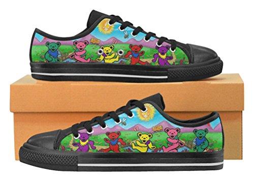Kvinners Uformelle Sko Dame Lerret Sneaker Med Grateful Dead Tema Gd2